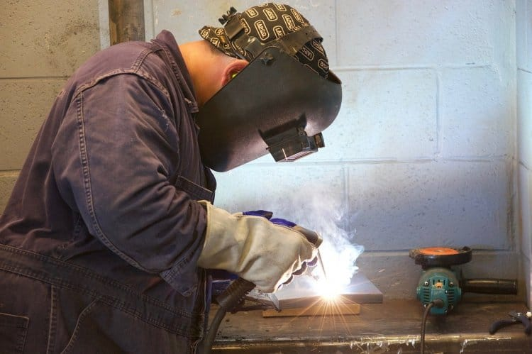 welding apprentice getting paid to learn the trade