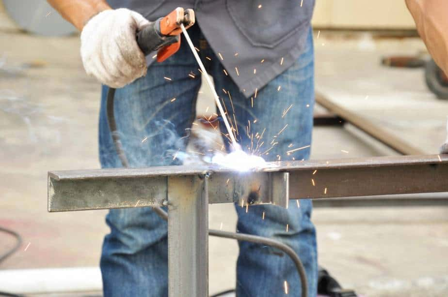 stick welding has advantages, like welding thick pieces of metal together