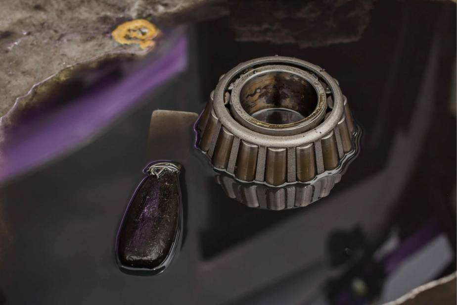 friction welding becomes a problem when it is unintended on moving parts, like this wheel bearing on an automobile