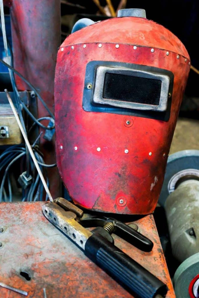 What is a welding helmet called?  This is an old welding hood.